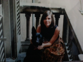 With Beloved Dog Brandy
