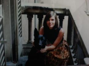 With Beloved Dog Brandy