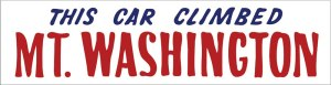 This Car Climbed Mt. Washington Bumper Sticker.jpg Small pic