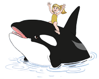 Salina and The Orca Friend