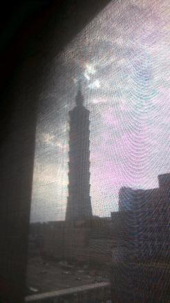 Taipei tower 101 from hotel window