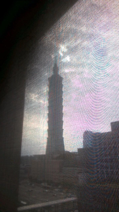 Taipei tower 101 from hotel window