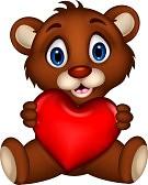 19791608-bebe-lindo-marron-oso-de-dibujos-animados-presenta-con-el-amor-del-corazon