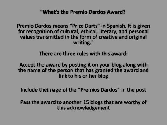 Premio Dardos Award Rules