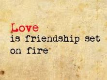 images - Love is friendship set on fire