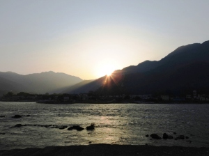 Sunrise at Rishikesh