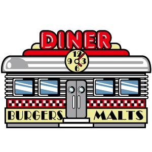 Saturday night hang-out, Durken's Diner