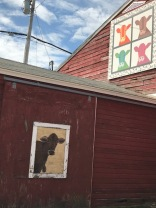 Quilt-like painting on barn in New Milford, CT 2017